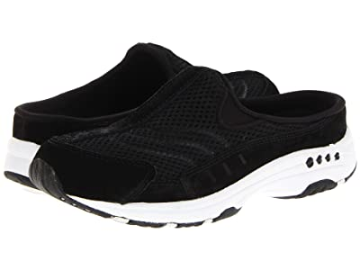 Easy Spirit Traveltime (Black Suede/White) Women