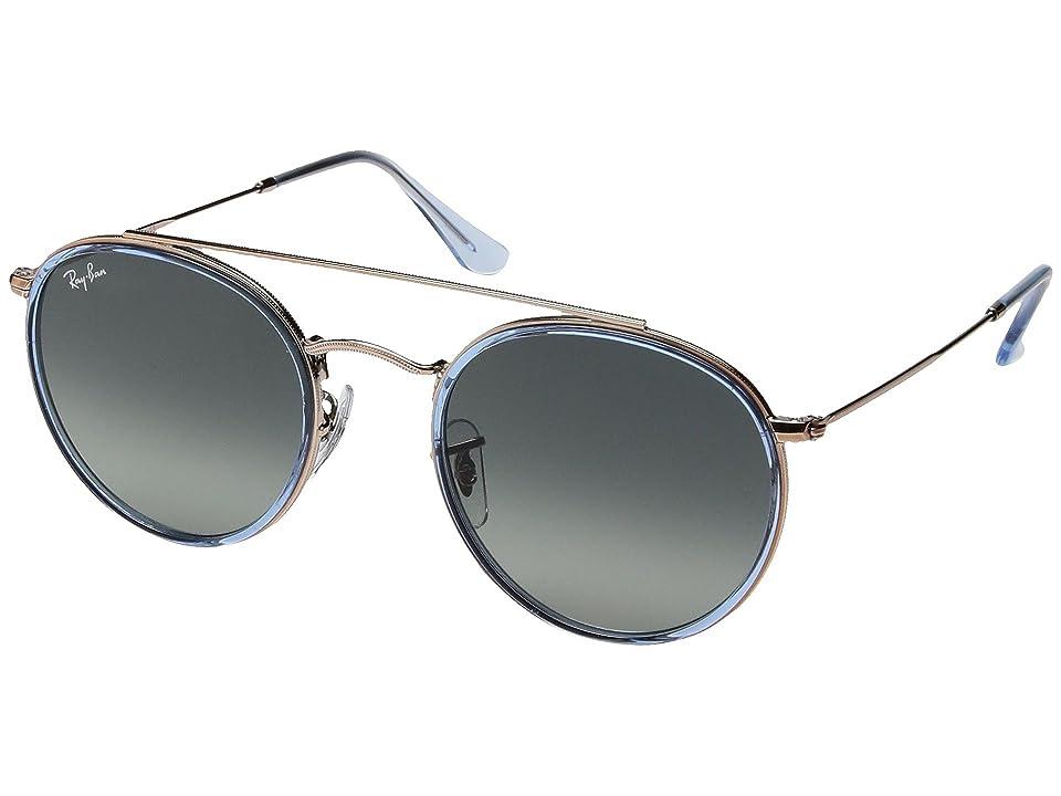 Ray-Ban 0RB3647N 51mm (Light Blue/Grey Gradient) Fashion Sunglasses