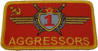 USAF Aggressor Squadron Russian Styled Patch - Color - Veteran Owned Business.