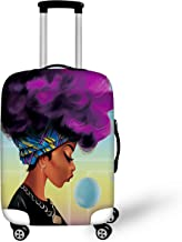BIGCARJOB Trendy Luggage Cover Elastic Spandex Dust-proof Case African woman Printed Fit 22-24inch Suitcase
