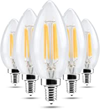 Led bulbs, YWXLIGHT, E14 4W Warm White Cool White Glass Shell LED Candle Light Edison LED Filament Lamp LED Bulb AC 220-24...