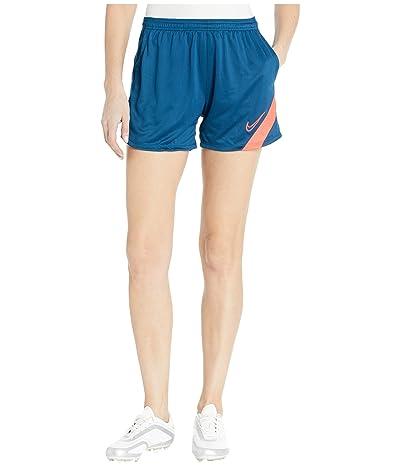 Nike Dry Academy Shorts (Valerian Blue/Laser Crimson) Women