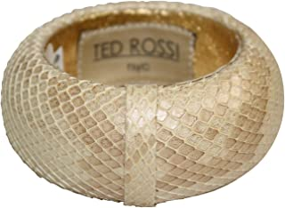 Ted Rossi Womens Large Python Bangle Natural Gold OS