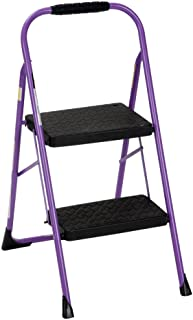 Cosco Two Step Big Step Folding Step Stool with Rubber Hand Grip, Purple Purple