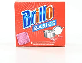 product image for Brillo Basics Steel Wool Scrub Pads, 8-ct. Box