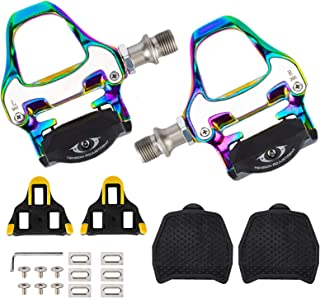 TRIMOU Bike Pedals Cleats Set for Shimano SPD SL,...
