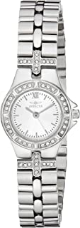 Women's Wildflower 21.5mm Crystal Accented Stainless Steel Quartz Watch, Silver (Model: 0132)