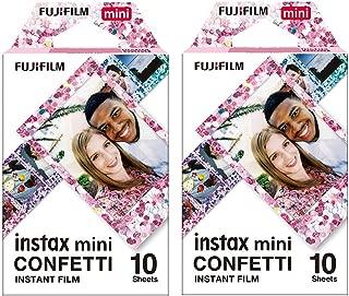 Fujifilm Instax Mini Confetti 19061920 Film, 20 Sheets, 2 Value Set