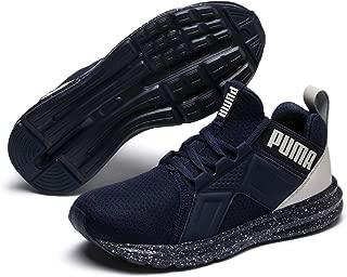 PUMA Unisex-Kids' Enzo Tech JR Sneaker, Peacoat-Glacier Gray