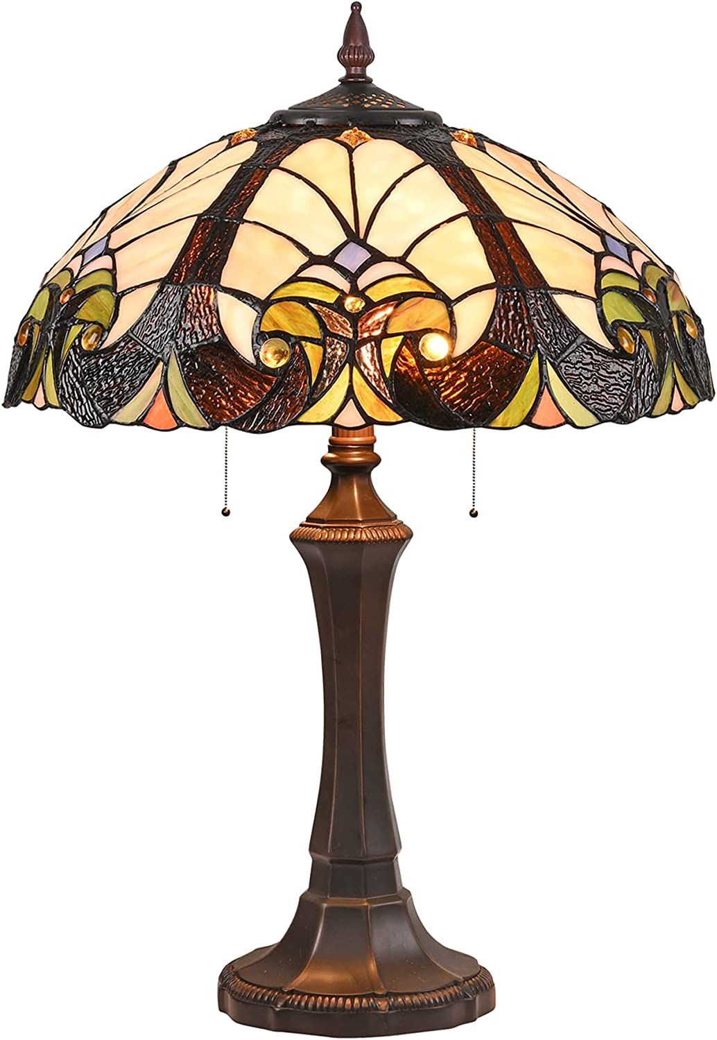 Doowin Tiffany Table OFFicial site Lamp Stained Light Max 63% OFF 2 Lighting
