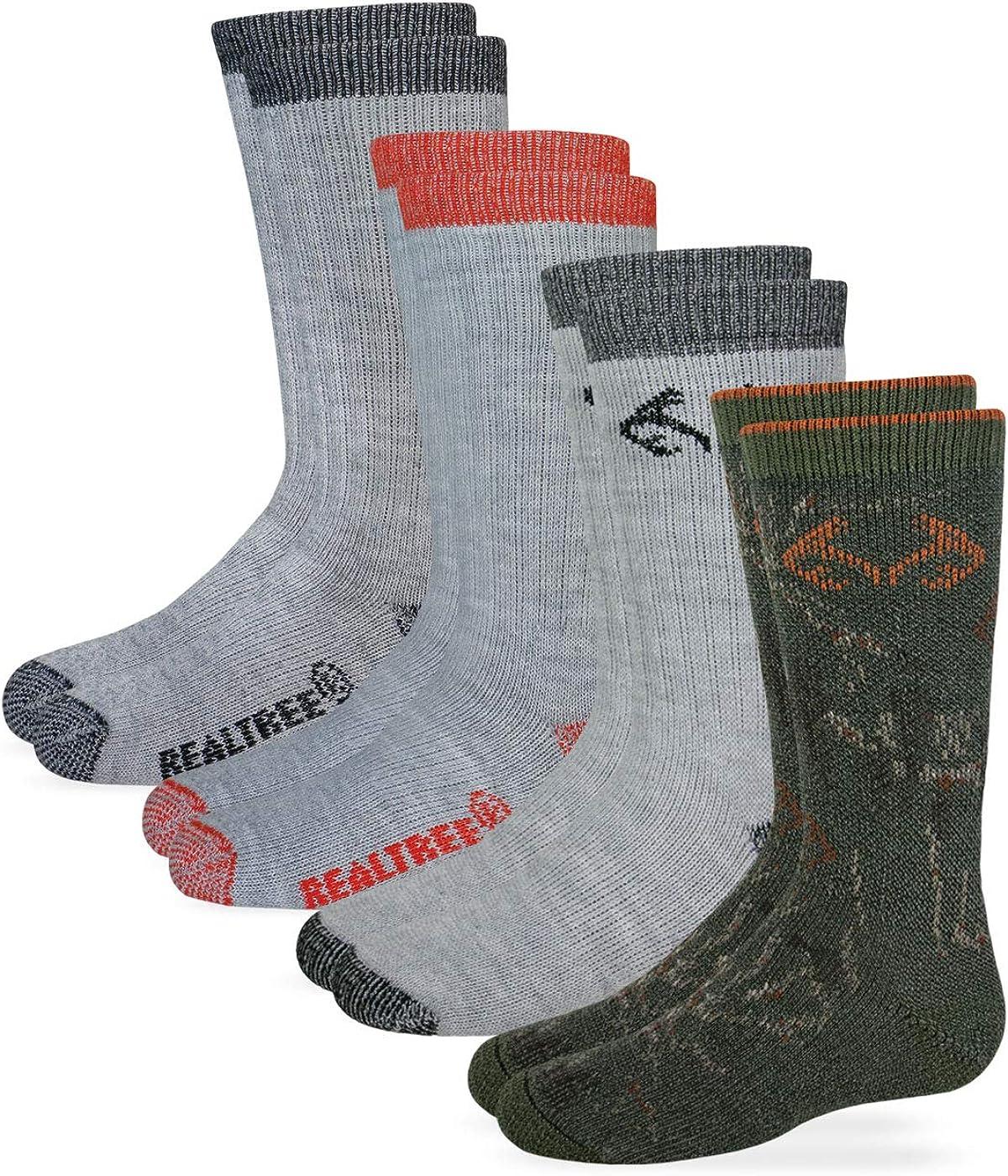 Realtree Boys Boot Sock (4- Pack) Multi, Small