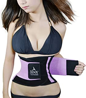 Jenx Fitness Unisex Waist Trimmer, Purple, Medium
