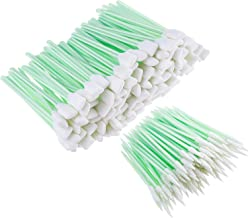 Chinco 200 Pieces 5.1 Inches Square Rectangle Foam Cleaning Swab Sticks and 2.52 Inches Foam Tip Cleaning Swabs Sponge Stick for Inkjet Printer, Print Head, Camera, Optical Lens, Optical Equipment