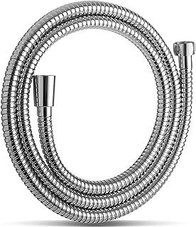 OFFO シャワーホース 交換用 ステンレス製 防爆漏れ防止 耐久性抜群のシャワーほーす 360°自由回転できるため 使用中の絡み合いを防ぐことができる 取り付け簡単 [2年間の安心保証] 長さ1.6m クロムメッキ