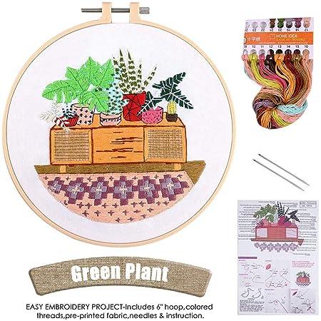 Animal Cross Stitch Kit Lucky Goddness 3 Sets Embroidery Starter Kit with Pattern