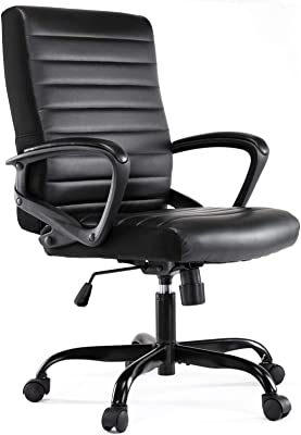 Office Chair, Desk Chair, Ergonomic Bonded Leather Executive Computer Task Chairs for Home Office Conference Room