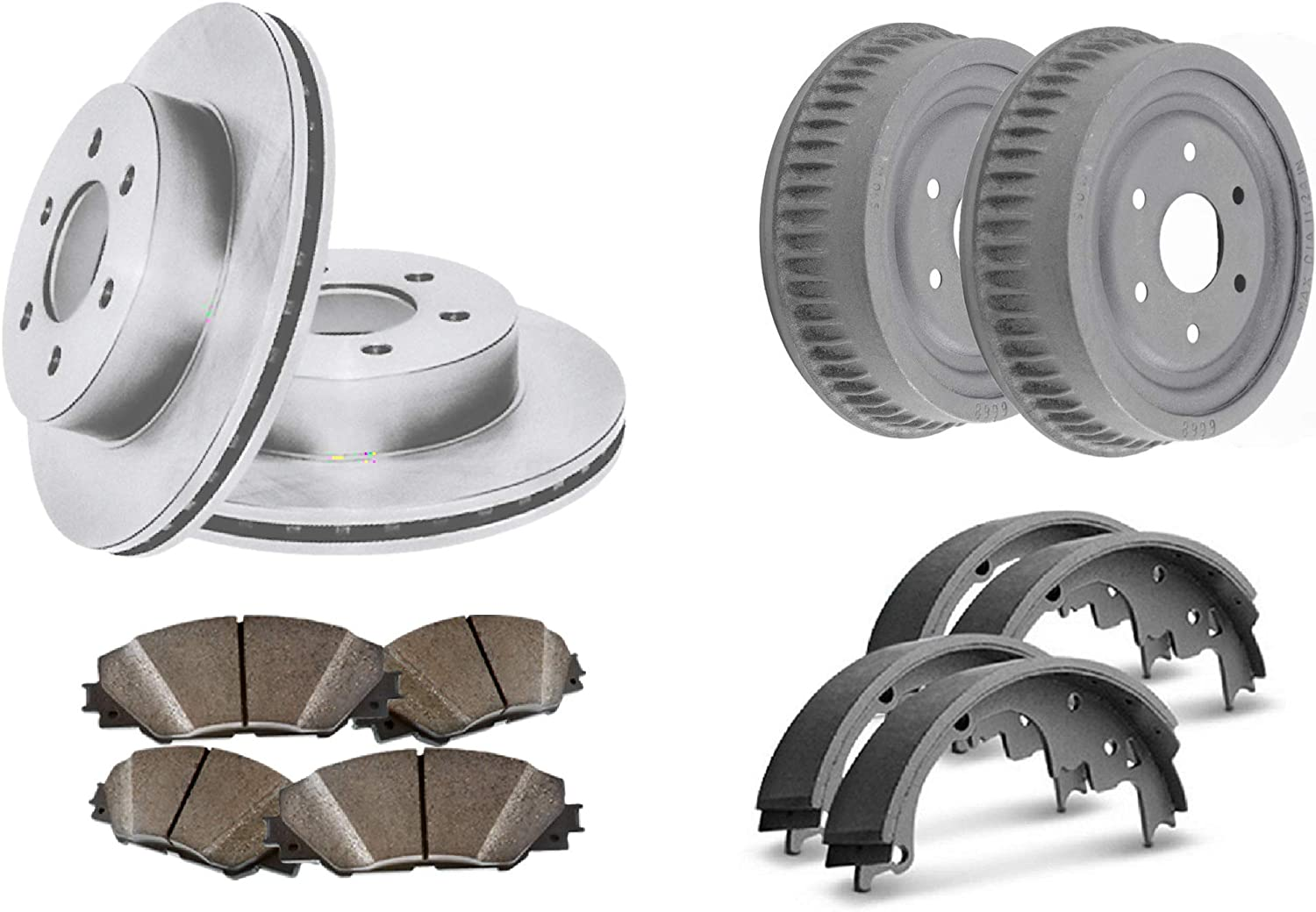 Front OFFicial mail order Geomet Coated Max 59% OFF Rotors and Pads Metallic featur Semi Premium