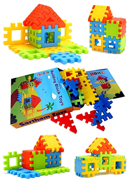 Sartham, Building Block Toy for Kids, Age 3 to 10 Years  Multicolor  Bricks   Blocks