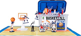 Kaskey Kids Basketball Guys - Red/Blue Inspires Kids Imaginations with Endless Hours of Creative, Open-Ended Play – Includes 2 Teams & Accessories – 21 Pieces in Every Set!