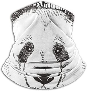 Hujingweijing9 Cute Head of Chinese Bear Panda Headband Face Mask Bandana Head Wrap Scarf Neck Warmer Headwear Balaclava for Sports