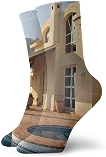 tyui7, Calcetines de compresión antideslizantes de piscina de la casa Calcetines deportivos acogedores de 30 cm para hombres, mujeres y niños