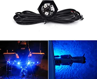 NBWDY Plug N' Play Underwater LED Boat Drain Plug Light,50000hr,3 Years Warrant.Lifespan,Garber-Fishing, Swimming, Diving,Add Ultra-Bright Underwater Lighting to Your Boat in 5 Minutes!