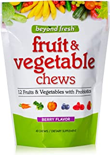 Beyond Fresh Fruit & Vegetable Chews, 12 Fruits and Vegetables With Probiotics, Berry Flavor, 60 Count