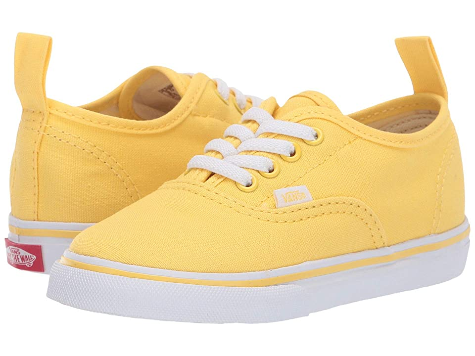 Vans Kids Authentic Elastic Lace (Toddler) (Aspend Gold/True White) Girls Shoes