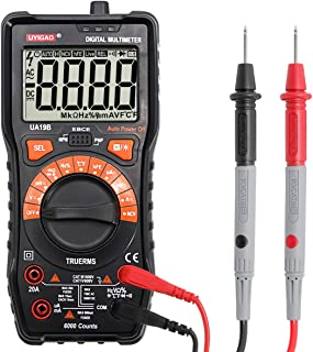 Digital Multimeter, UYIGAO 6000 Counts Auto-Ranging Electronic Measuring Instrument AC Voltage Detector Handheld Amp/Ohm/Volt Test Meter NCV Multi Tester Diode and Continuity Test with LCD Display