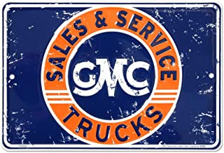 GMC Sales Tin Sign 12 x 8in