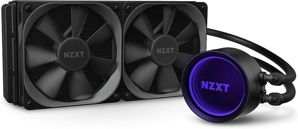Amazon.com: NZXT Kraken X53 240mm - RL-KRX53-01 - AIO RGB CPU Liquid Cooler  - Rotating Infinity Mirror Design - Improved Pump - Powered By CAM V4 - RGB  Connector - Aer P