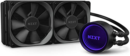 NZXT Kraken X53 240mm - RL-KRX53-01 - AIO RGB CPU Liquid Cooler - Rotating Infinity Mirror Design - Improved Pump - Powered by CAM V4 - RGB Connector - AER P 120mm Radiator Fans (2 Included)