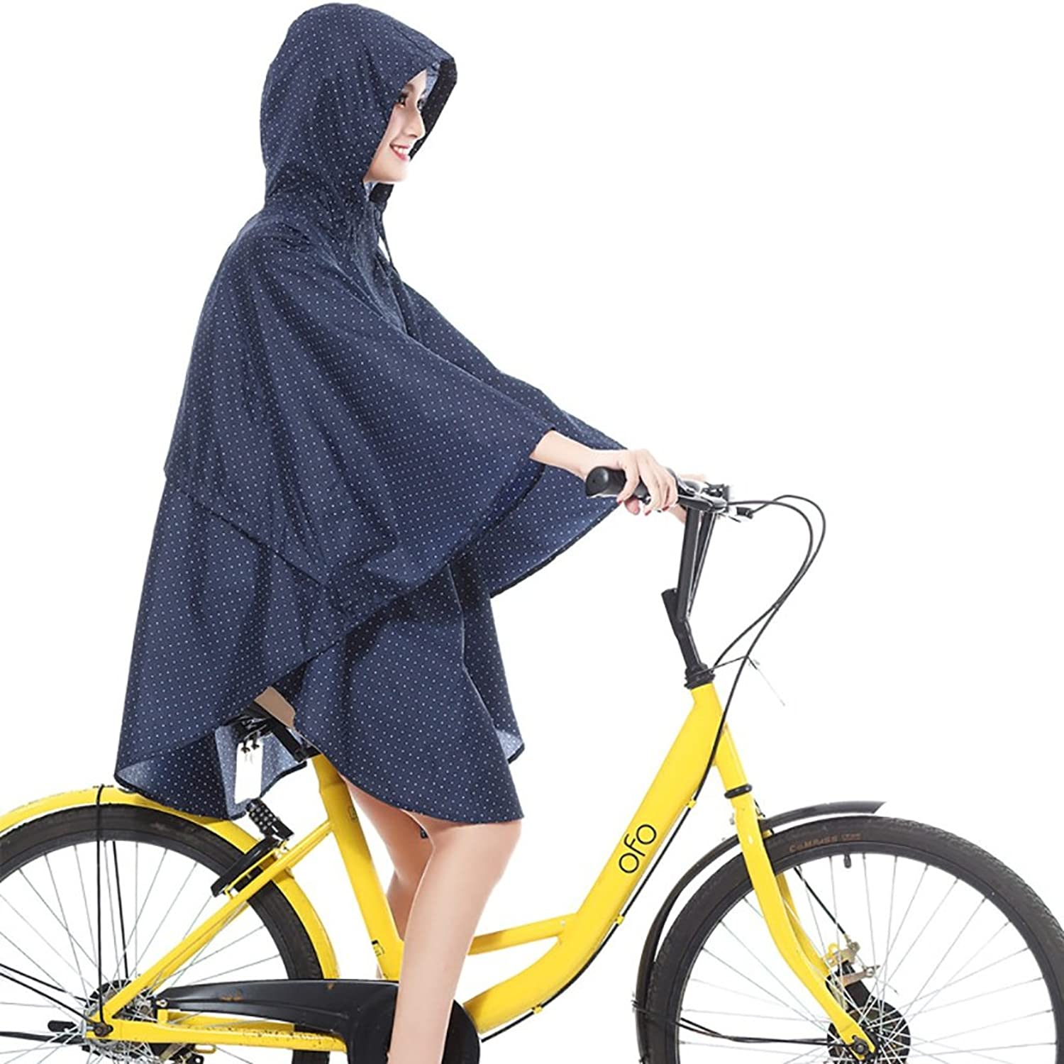 Raincoat Raincoat Poncho Cloak Men and Women Fashion Cycling Loose Large Size Tourism Waterproof Clothing Thin and Light Comfortable and Breathable (color   G)