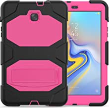 Azzsy Galalxy Tab A 8.0 Case 2018,Slim Heavy Duty Shockproof Rugged Case Hard PC+Silicone High Impact Full Body Protective Case for Samsung Galaxy Tab A 8.0 (2018) SM-T387 Tablet (Rose)