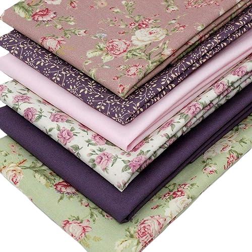 f648320487 Overdale Fabrics 6 Fat Quarters Bundle - Vintage Rose Florals - Pink