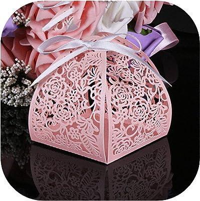 Amazon.com: 50 cajas de caramelos de boda para invitados y ...