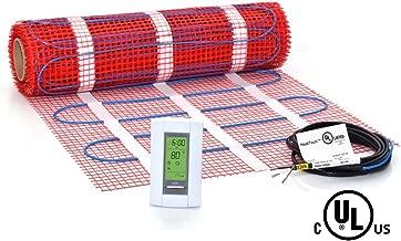 30 sqft Mat Kit, 120V Electric Radiant Floor Heat Heating System w/Aube Programmable Floor Sensing Thermostat