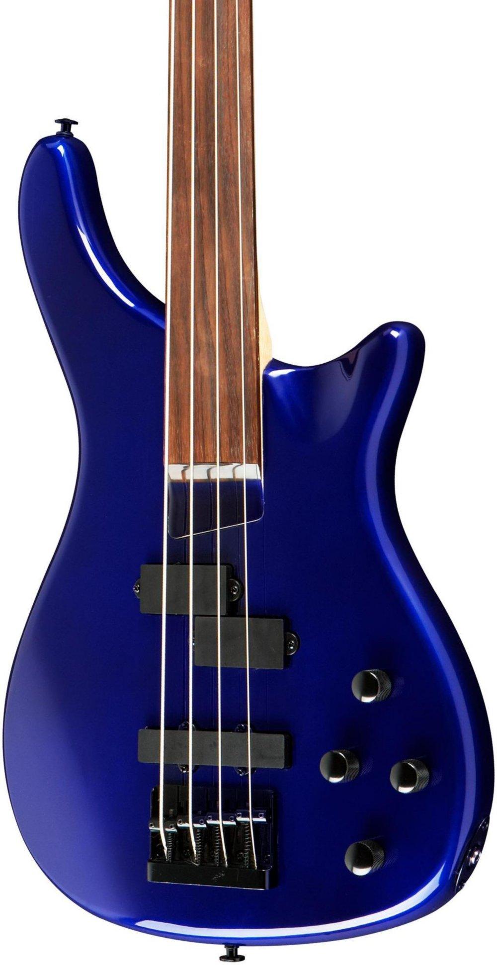 Cheap Rogue LX200BF Fretless Series III Electric Bass Guitar Metallic Blue Black Friday & Cyber Monday 2019