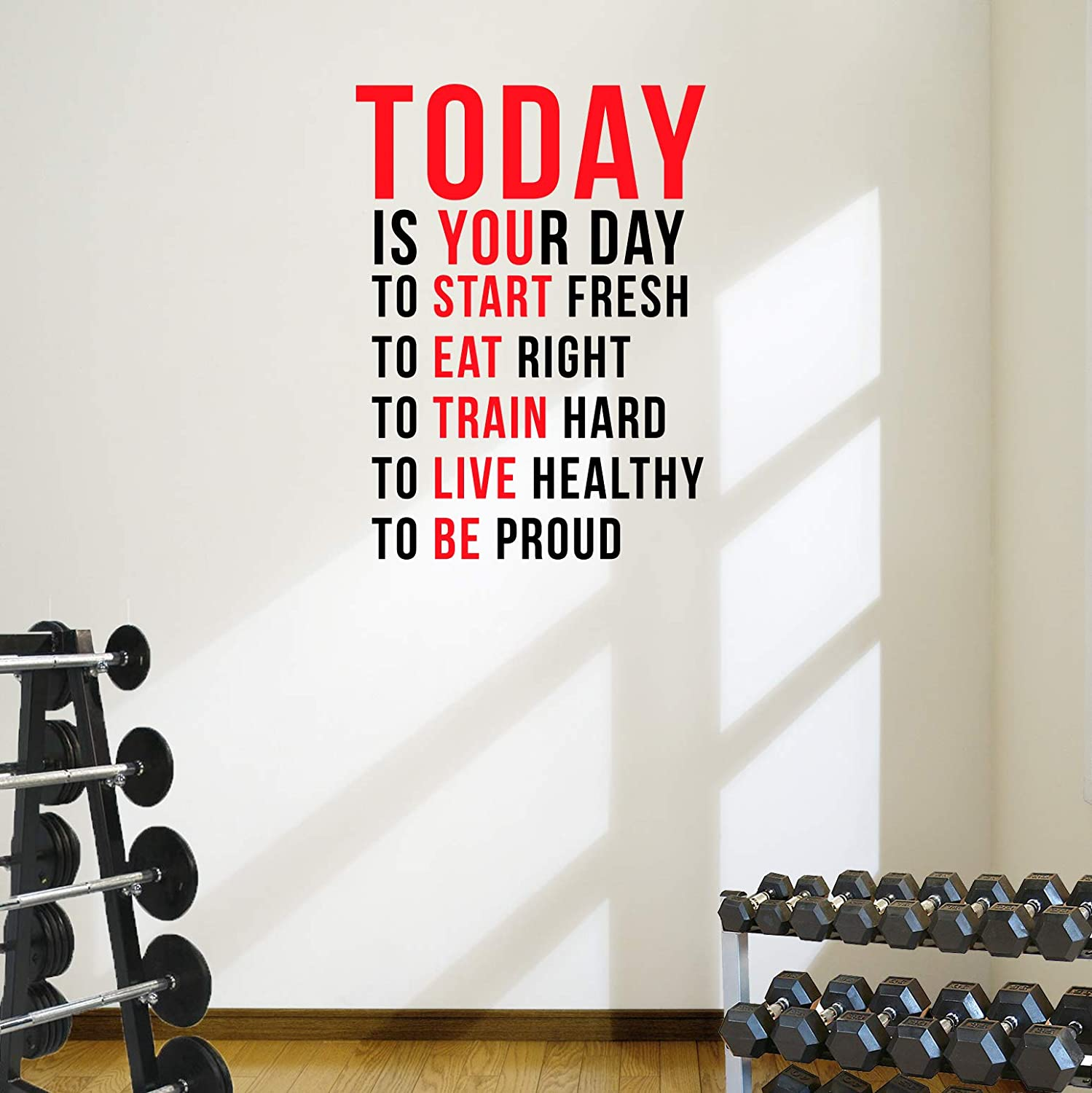 Today is Your Day Max Max 82% OFF 73% OFF to Start Decal Fresh... Motivational Wall Quot