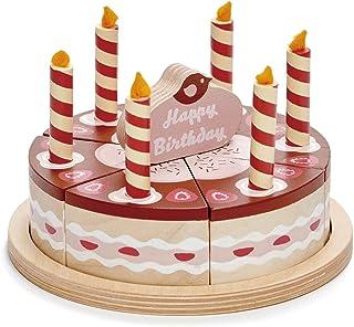Tender Leaf Toys - Pretend Food Play Birthday Cake - (Chocolate Birthday Cake)