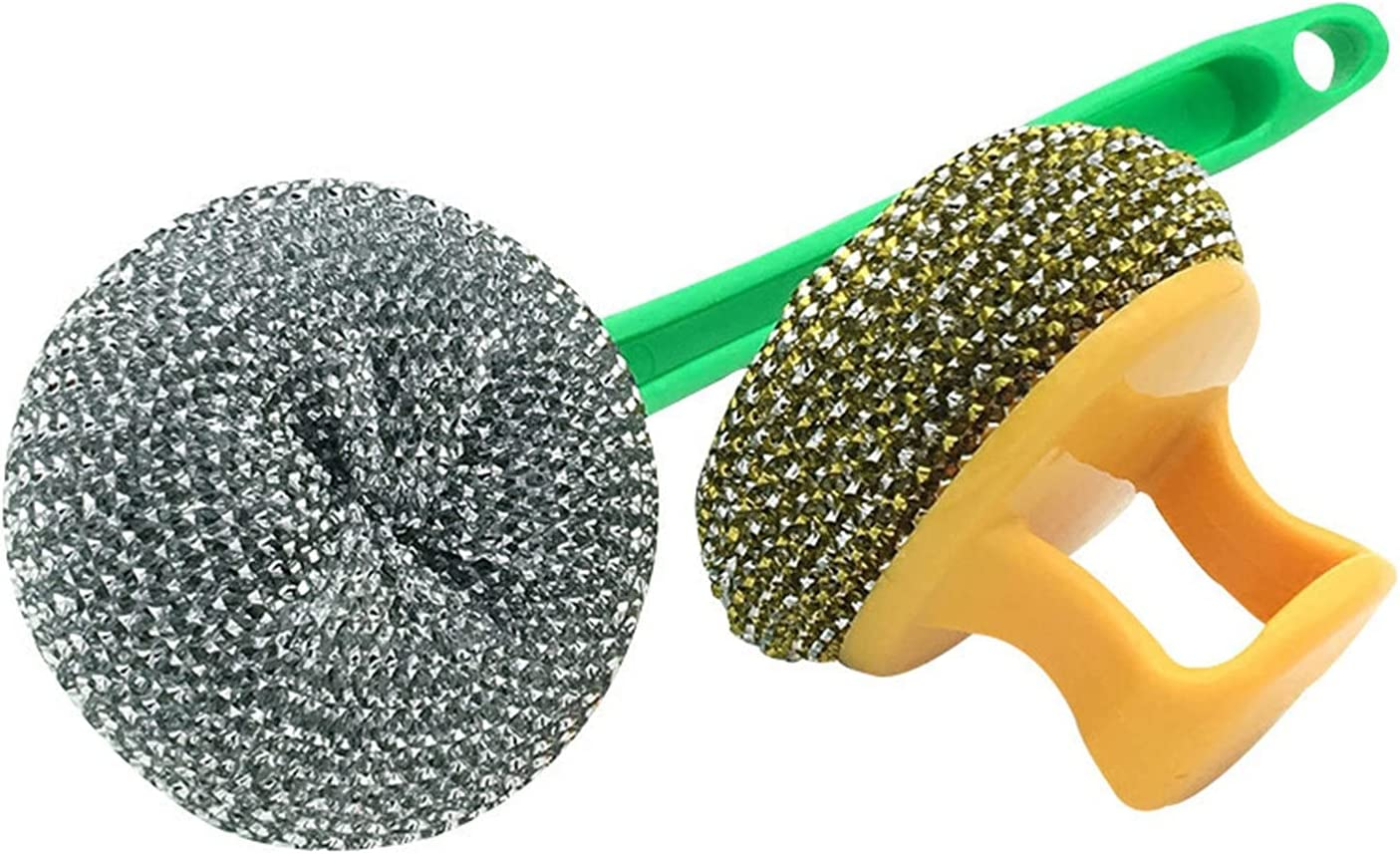 Plastic Cleaning Ball Steel Wire OFFicial shop With Handle Luxury goods Outdoor Hou