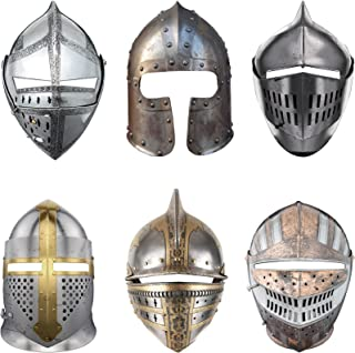 18 Pieces Medieval Party Knight Masks Cosplay Accessory Paper Medieval Decor Crusader Knight Masks Cosplay Knight Masks Kn...