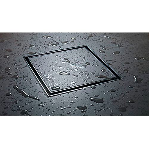 LIDCO Marble/Stone/Tile Insert Floor Drain in Marine Grade Stainless Steel SS 316 (125mm x 125mm) - 5 Inch x 5 Inch - Now with Cockroach Trap!!