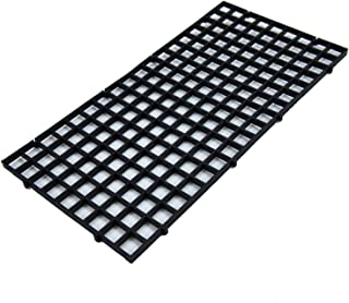 Pomeat 4Pcs Aquarium Fish Tank Bottom Isolation, Black Grid Divider Tray Egg Crate Louvre for Mixed Breeding