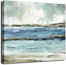 tigeridge Abstract Wall Art Blue Modern Canvas Pictures Contemporary Canvas Artwork for Bedroom Living Room Bathroom Kitch...