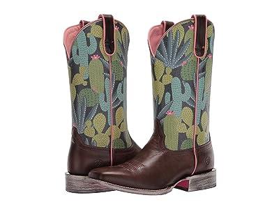 Ariat Circuit Savanna (Desert Taupe/Navy Cactus) Cowboy Boots