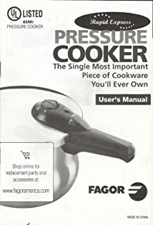 RAPID EXPRESS PRESSURE COOKER (USER'S MANUAL) BY FAGOR (61 PAGES) COOKWARE NOT INCLUDED