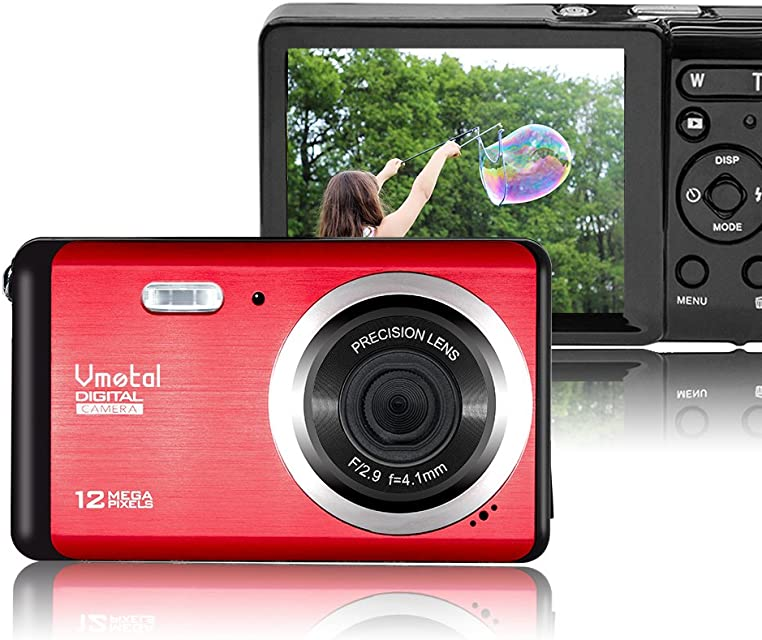 Vmotal GDC80X2 Mini cámara Digital compacta 12 MP HD 30 TFT LCD para niños/Principiantes/Ancianos (Rojo & Negro)