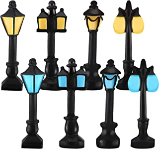 WILLBOND 16 Pieces Dollhouse Miniature Street Lights Mini Resin Street Lamps Dollhouse Model Streetlights for Fairy Mini Garden Craft Hanging
