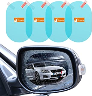 4 PCS Rainproof Car Rear View Mirror Film, Foseal Side Mirror Film Drive Safely HD Clear Nano Coating waterproof Films Anti-scratch Protector for SUV Car Mirrors Side Windows, Oval (5.31